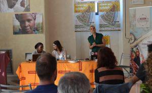 Glenys Suarez di Conacado e Valentina Pontorno di Altromercato a Itinerari Solidali 2017