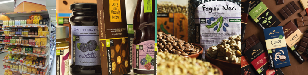 Prodotti alimentari Altromercato grande distribuzione negozi al dettaglio bio