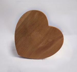 sottopentola legno cuore India